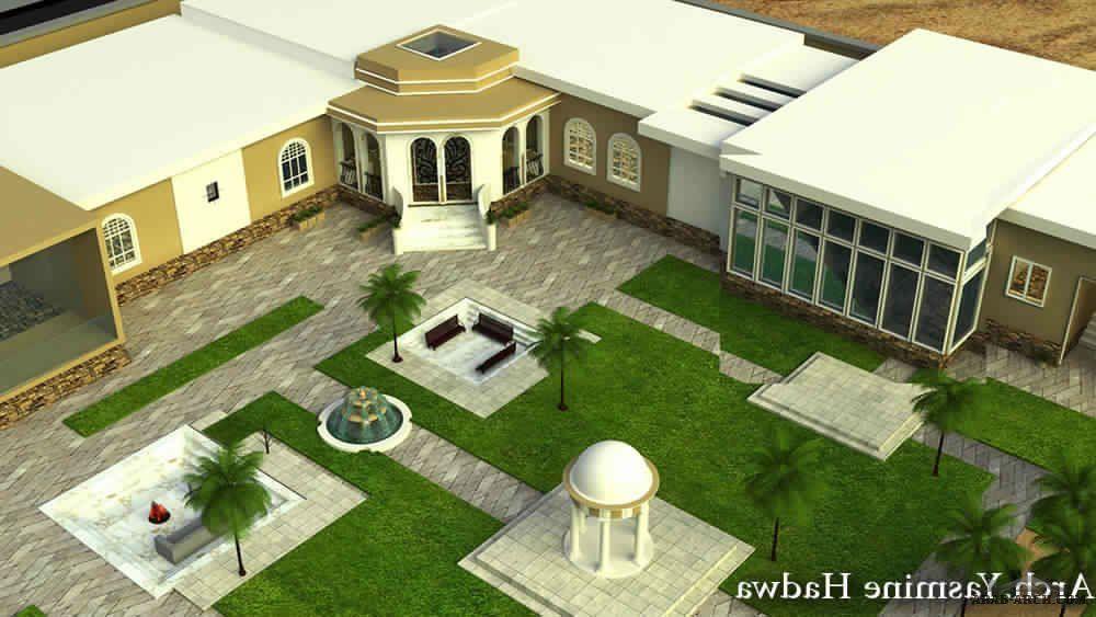 تصميم استراحة حرف L زاوية من أعمال Yasmine Al Hadwa House Styles Home Map Design House Map