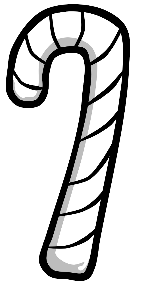 Candy Cane Bw Candy Cane Black And White Color