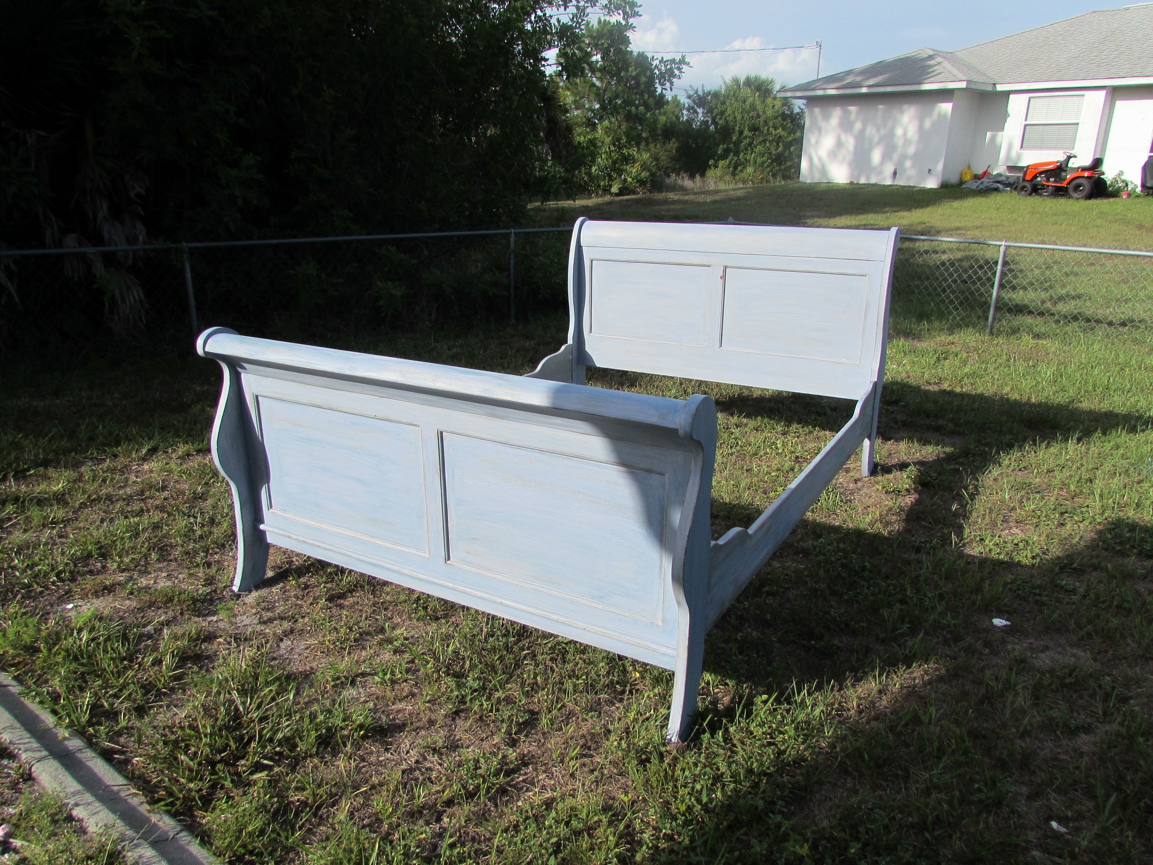 Second Hand Shabby Chic Bedroom Furniture Vintage Painted Shabby Chic Full Size Sleigh Bed Chalk Paint