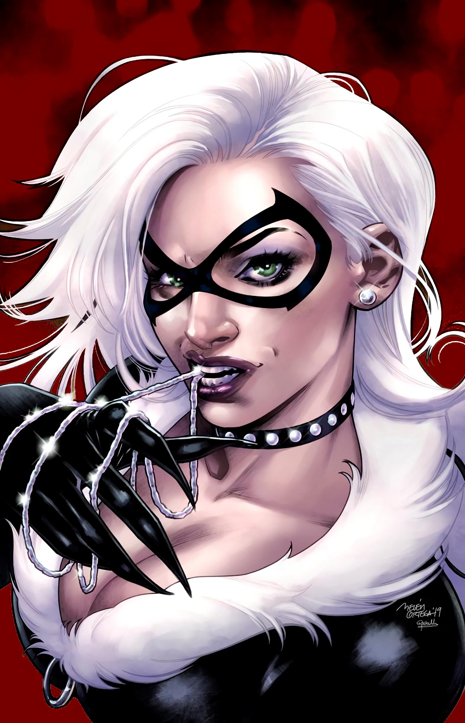 Black Cat 2019 1 Variant Cover Spider Man Belen Ortega A Rachelle Rosenberg C Black Cat Marvel Black Cat Art Black Cat