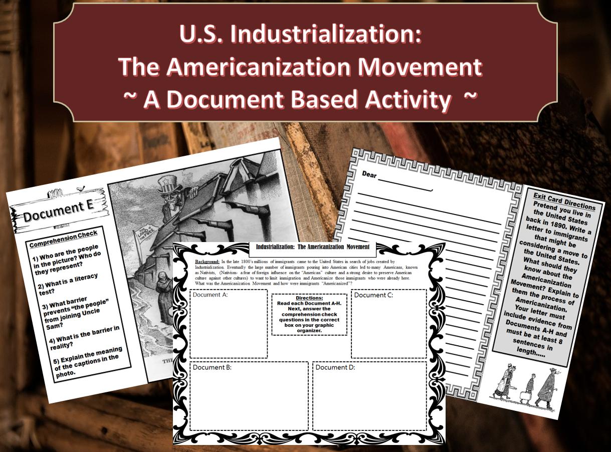 Industrialization In America The Americanization Movement