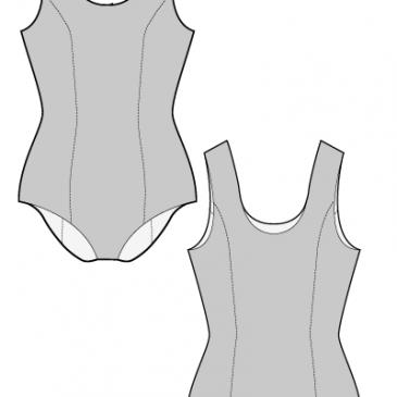 BASIC SWIMSUIT – Sewing Pattern (FREE) | Patrones | Pinterest ...