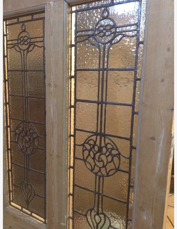 626 Ornate Leaded Light Victorian Front Or Vestibule Door Glass