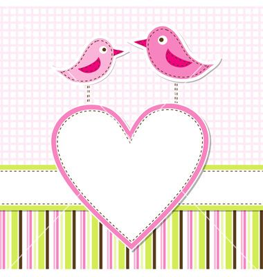 Birds And Heart For Handmade Greeting Cards  Craft Ideas