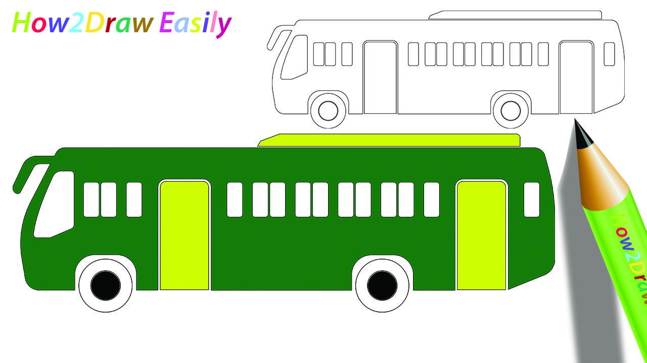 Bus Drawing Coloring Bus Drawings