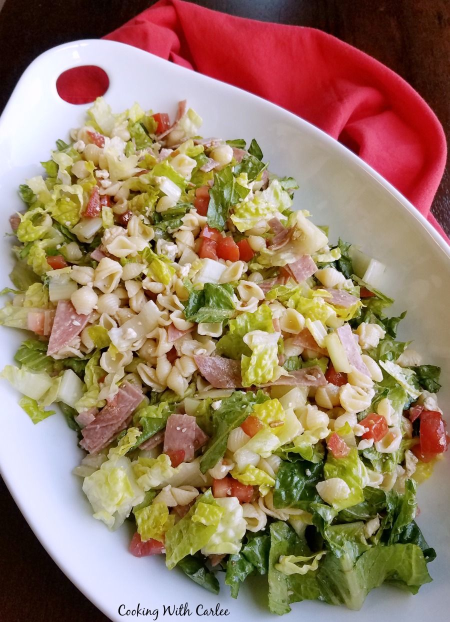 Inspired by Portillo's Chopped Salad, this is a party ...