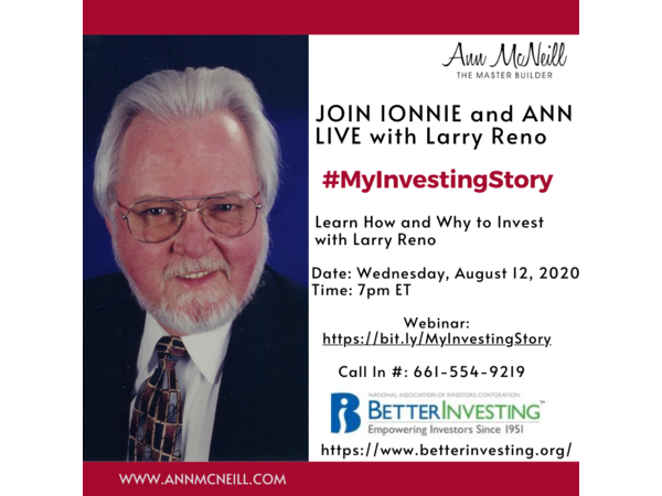 Learn How And Why To Invest With Larry Reno Sharing Myinvestingstory 08 12 By International Mastermind Assoc Lifestyle Larry Investing Investment Club Reno
