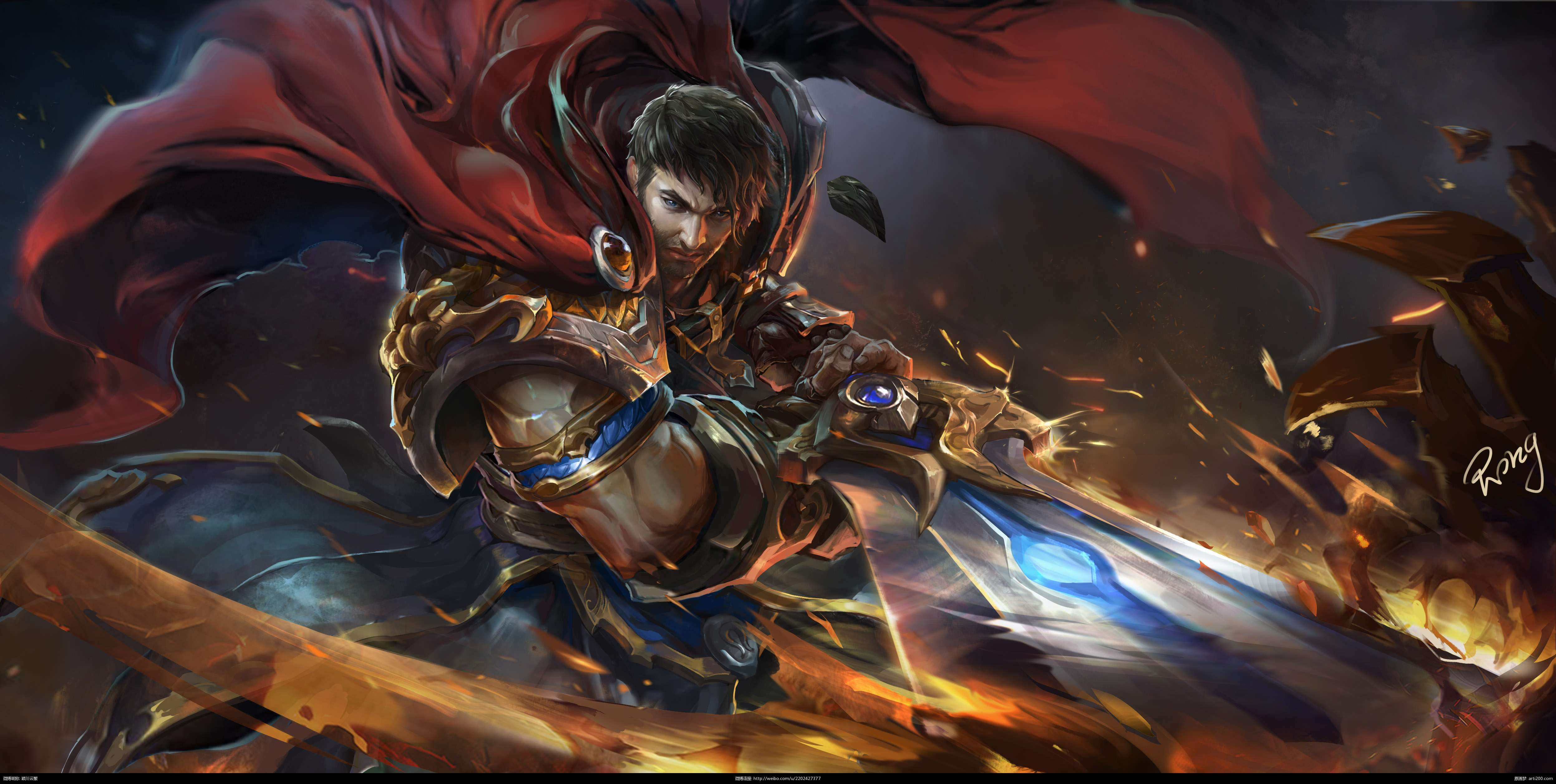 garen league of legends hd wallpaper gaming and anime