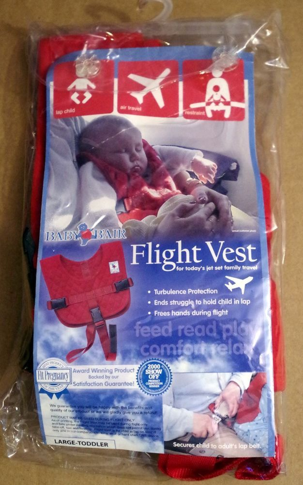 Baby B/'Air AIRLINE FLIGHT VEST Airplane SAFETY BAir Seat Belt FAA Harness *NEW!
