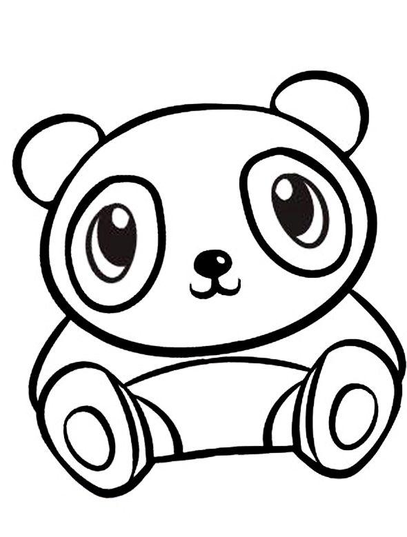 Ausmalbilder Panda Kinderzimmer