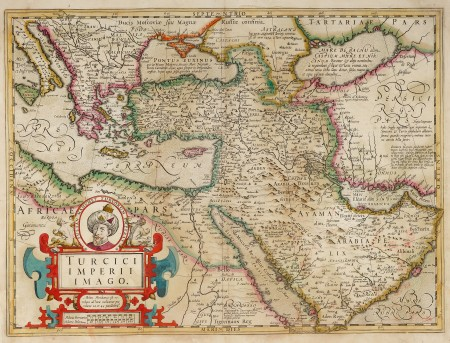 Turcici Imperii Imago Antique Print Map Room Middle East Map Map Map Print