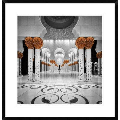 "Global Gallery 'Sheikh Al Zayed Grand Mosque' by Cuomo Massimo Framed Photographic Print Size: 28"" H x 27.1"" W x 1.5"" D"