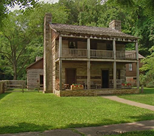 Two story log cabin dream home exterior pinterest for Two storey log cabin