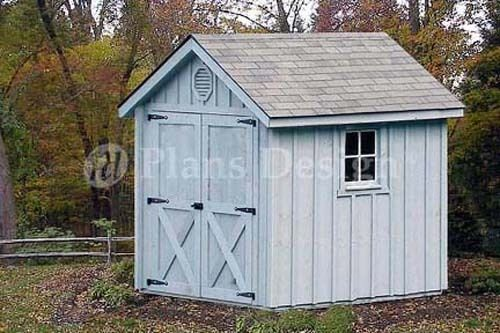 6' x 8' Playhouse / Storage Shed Gable Shed Project Plans, Design # 80608 #PlansDesign