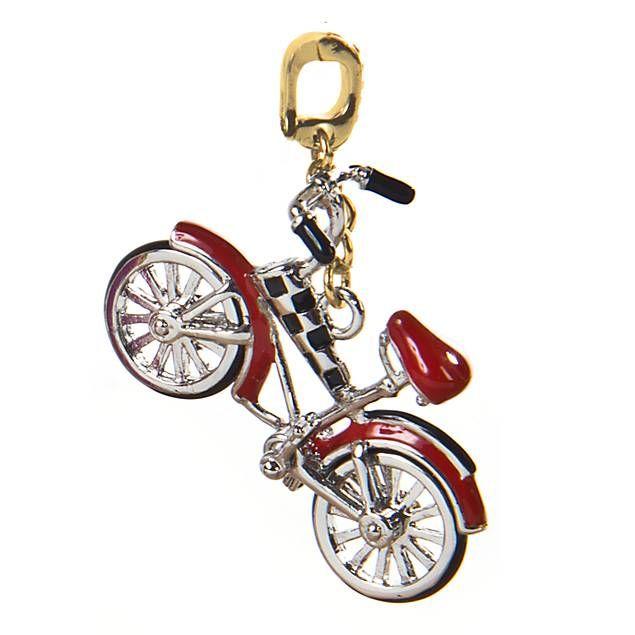 Cute High Wheel Tricycle Crystal Rhinestone Bicycle Biker Pendant Necklace Ali