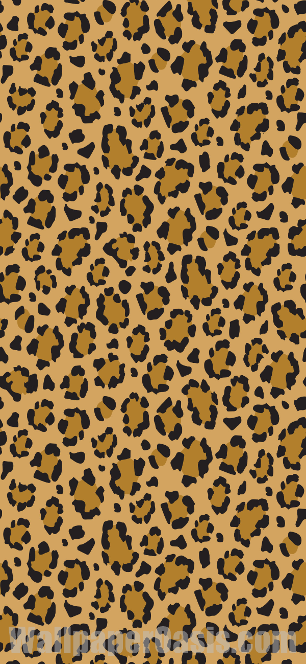 Free leopard print iPhone wallpaper. This design is