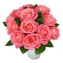 #Pink #Rose #Bouquet. Lush fresh #flowers available from http://www.flyingflowers.co.nz/pink-rose-bouquet