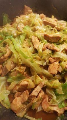 Hähnchenpfanne mit Spitzkohl von sunshinedn | Chefkoch #chickenrecipes