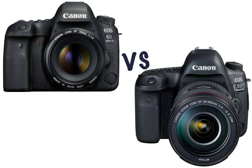 Canon Eos 6d Mark Ii Vs 5d Mark Iv What S The Difference And