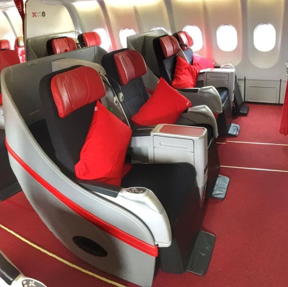 Air Asia X Flatbed Business Class Seats Air Asia Private Jet Interior Business Class