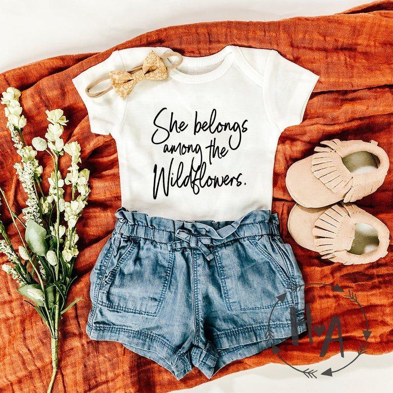 Wildflower Baby Onesie® /Wildflower Girls Shirt/Ba