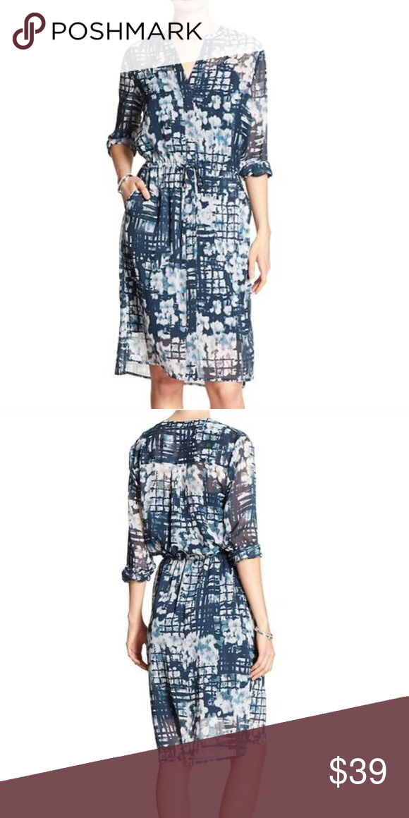 f5924187100 Print Georgette Dress Brand new with tags