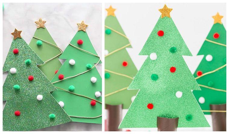 Idee Originali Per Lavoretti Di Natale.Alberi Di Natale Originali Lavoretti Creativi Natale Addobbi Con Pom Pom Idee Natale Fai Da Te Decorazioni Natalizie Colla Per Legno