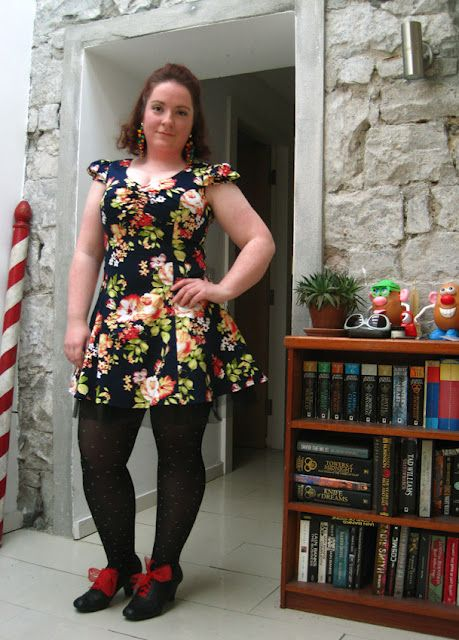 What I'm Wearing-retro floral dress