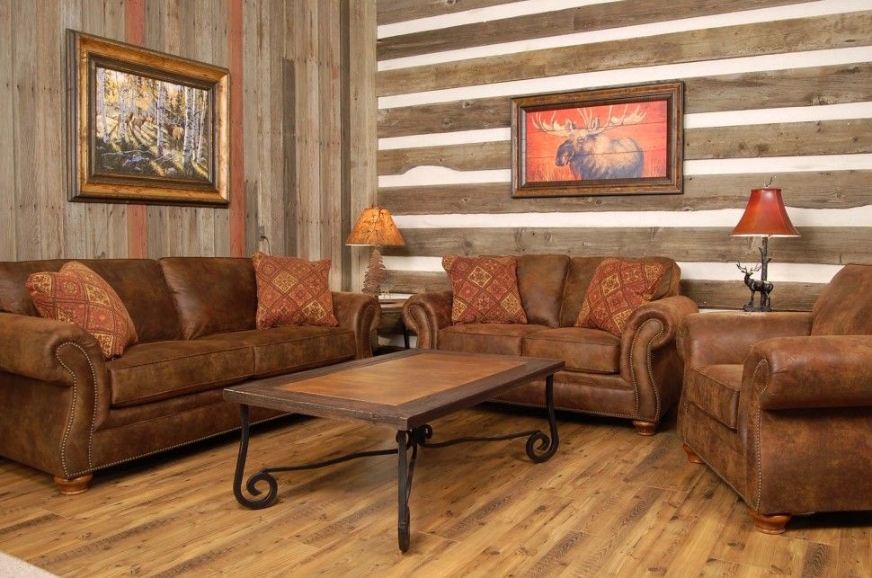 Furniture Clical Country Style Living Room With Oak Wooden Wall And Brown Leather Sofa Idea Decorating Your Great