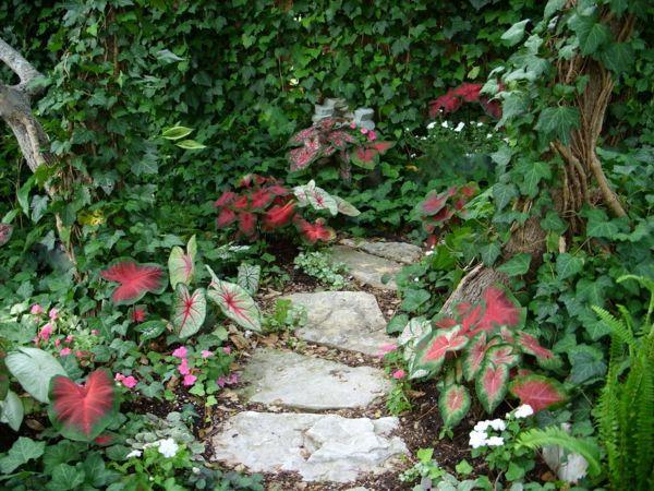 gartenweg natursteine garten gestalten pflanzen exterieur tuine - garten mit natursteinen gestalten