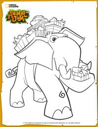 Animal Jam Elephant Coloring Page Animal Jam Elephant Coloring Page Coloring Pages