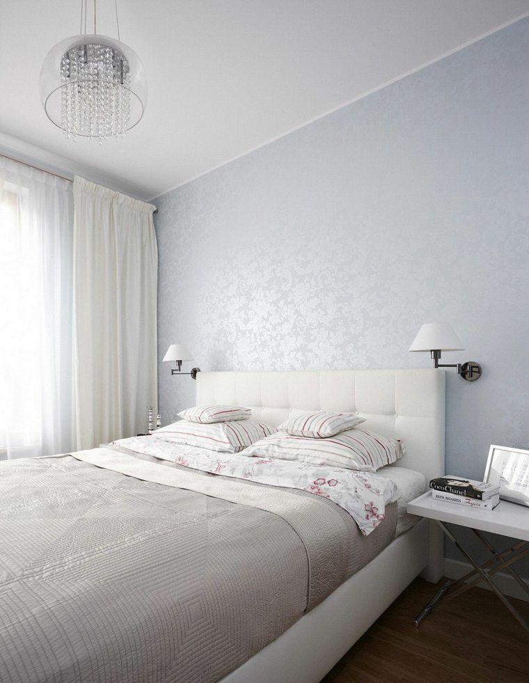 Chambre à coucher blanche avec des accents colorés   Chambre ...