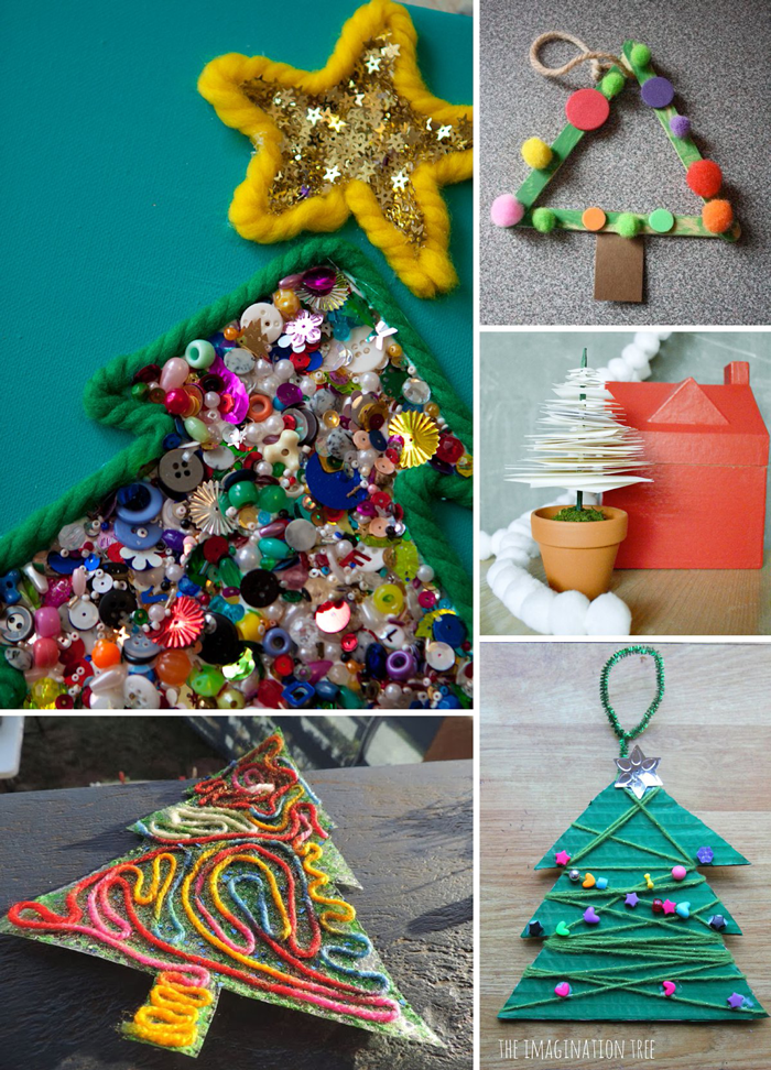 Christmas Tree Craft Ideas Part - 20: 10 Christmas Tree Crafts For Kids #holidays #projects *Saving This
