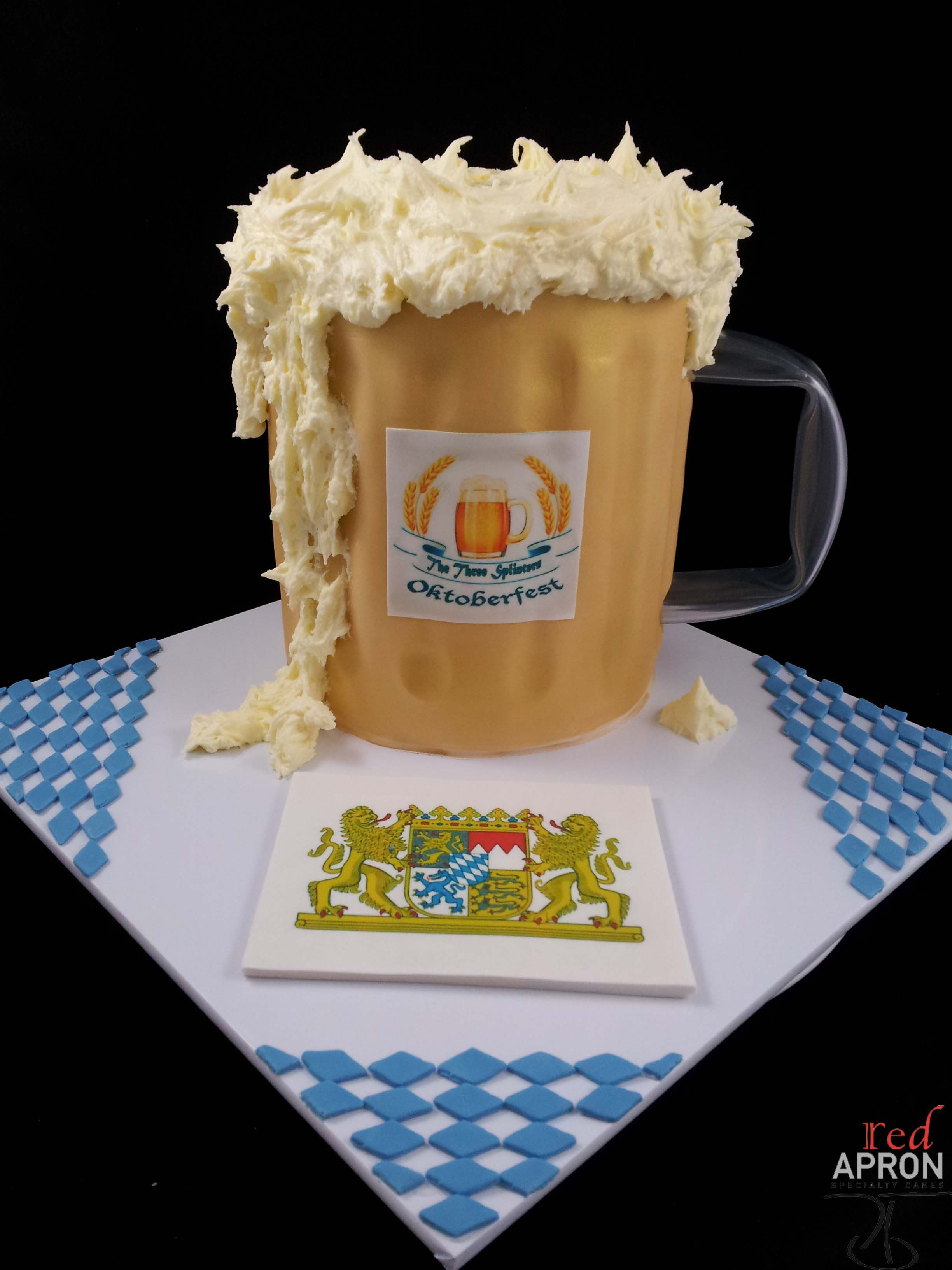 White apron ale - An Oktoberfest Beer Mug From Red Apron Specialty Cakes
