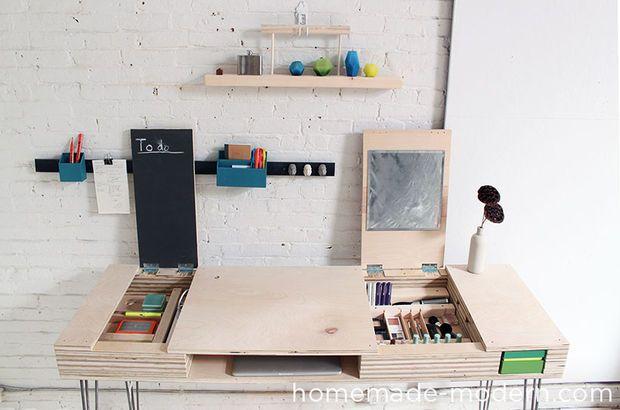 Homemade modern diy flip desk homemade modern desks and modern