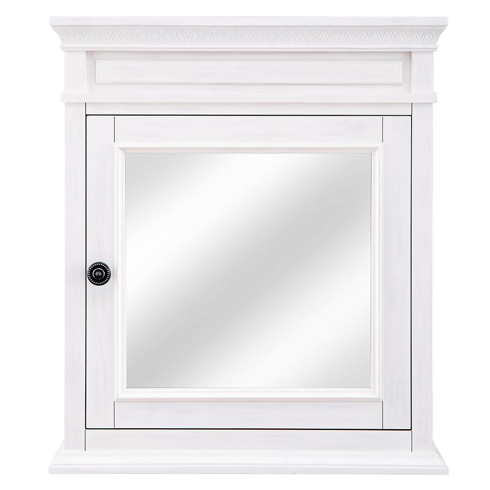 Home Decorators Collection Cailla 24 In W X 28 In H Mirrored Wall Cabinet In White Wash Ckwc2428 The Home Depot Wall Cabinet Home Decorators Collection Mirrored Cabinet Doors
