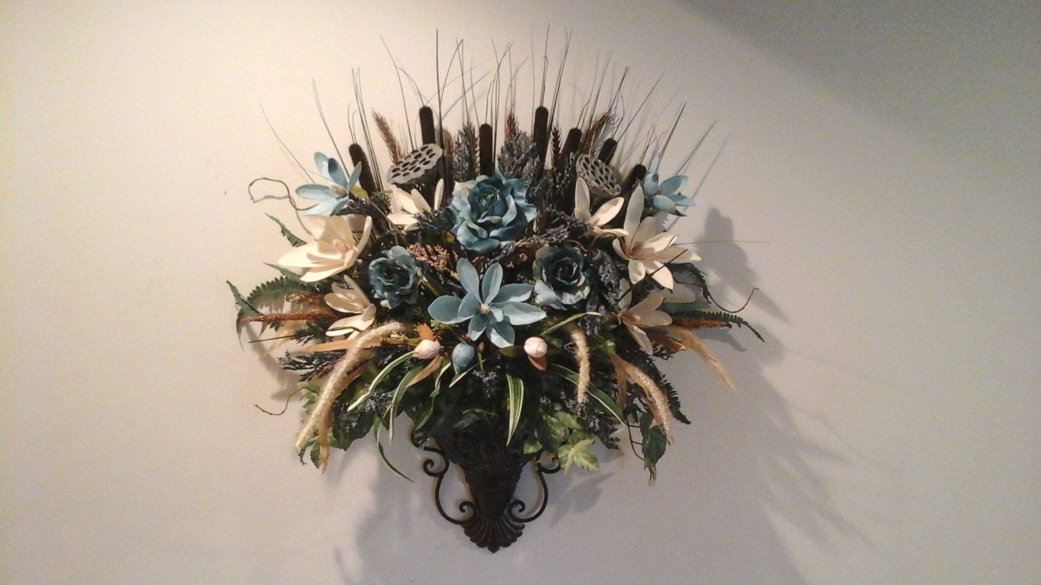 Fl Wall Sconce Arrangement Shipping Included Pocket Planter Large