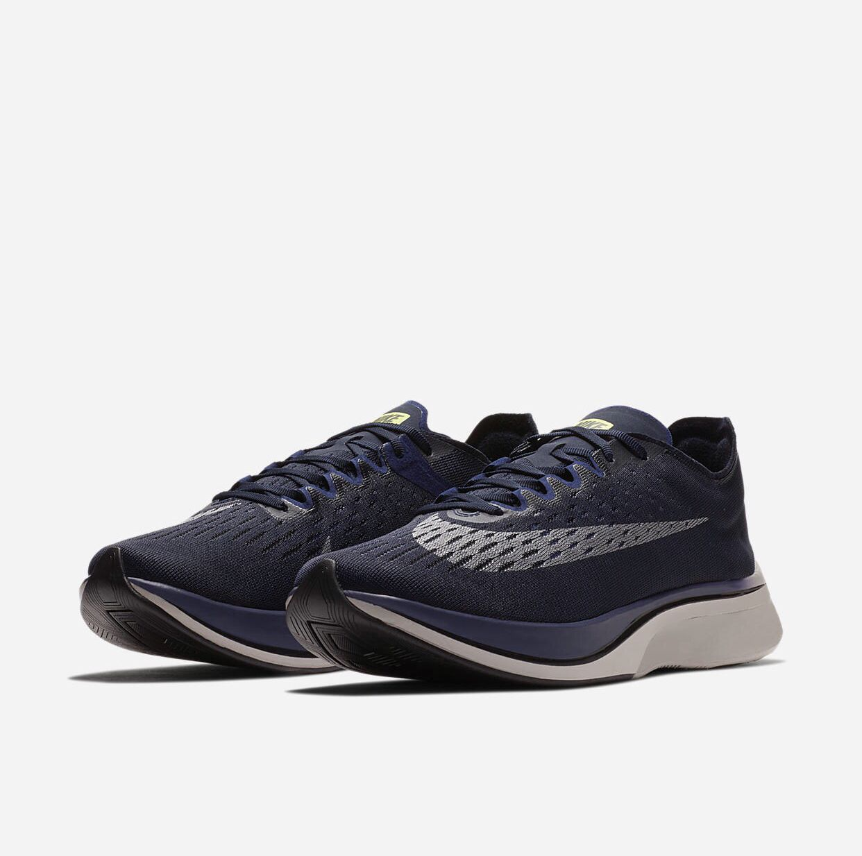 2bd5b76c24c3 Nike Zoom Vaporfly 4% Obsidian Neutral Indigo Metallic Silver releasing  4.11.18