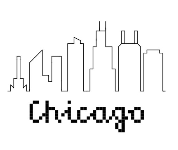 Show Your Love For The Windy City With This Counted Cross Stitch