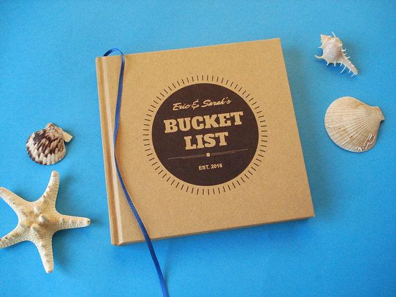 Custom first anniversary gift journal · our bucket list· paper