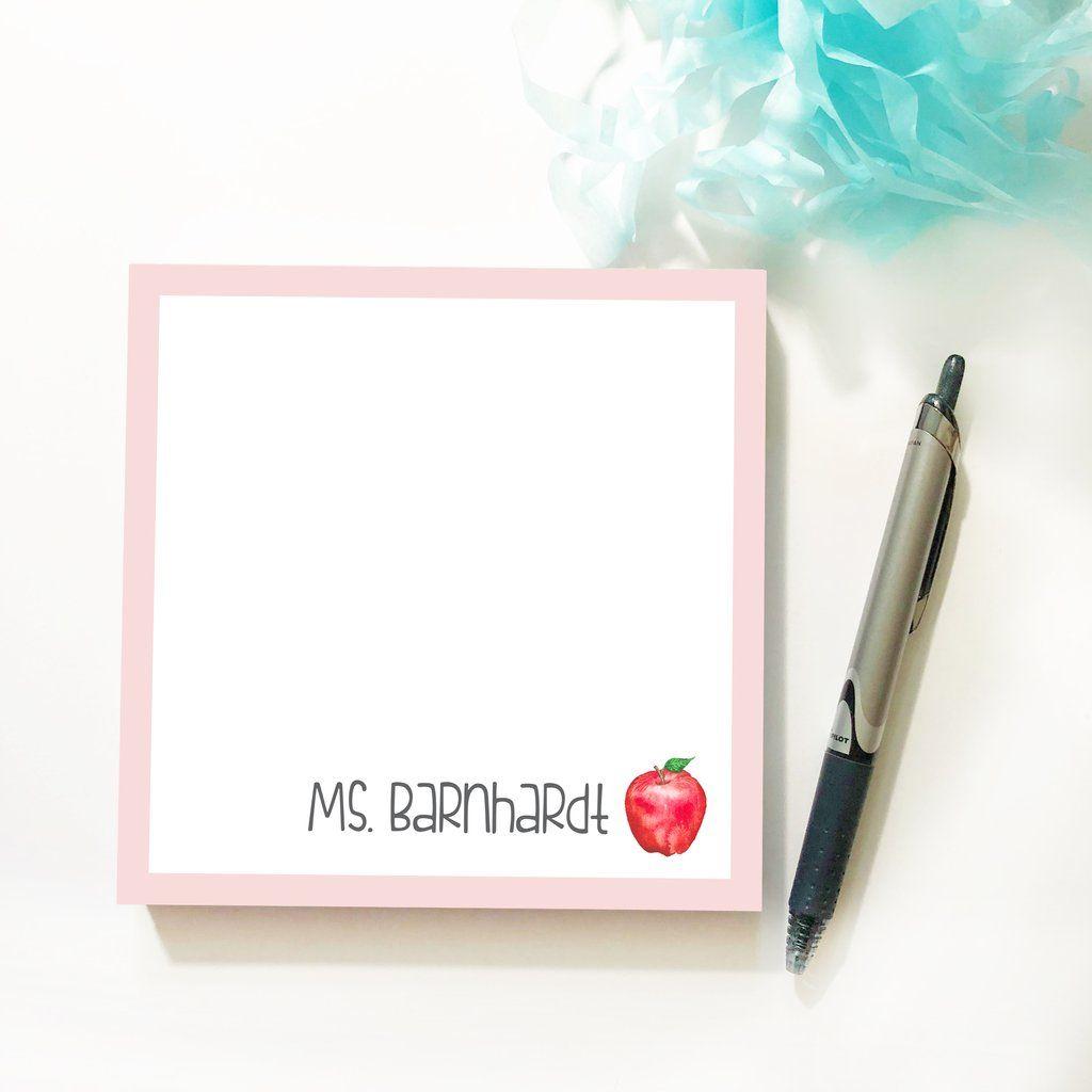 Teacher Apple Notepad Teacher apple, Teacher favorite