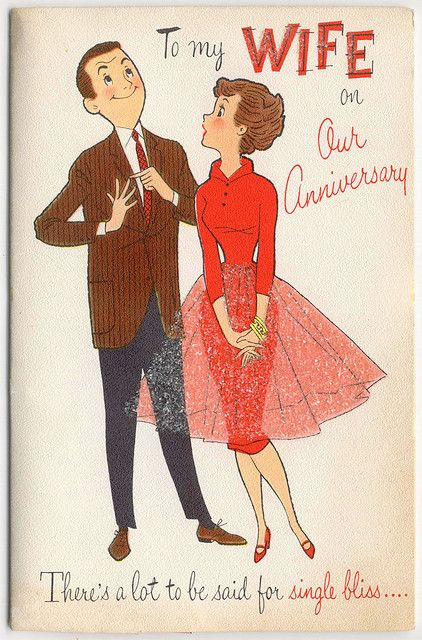 To My Wife On Our Anniversary Card Vintage Illustrations Cards Wedding Anniversary Cards Vintage Illustration Vintage Wedding