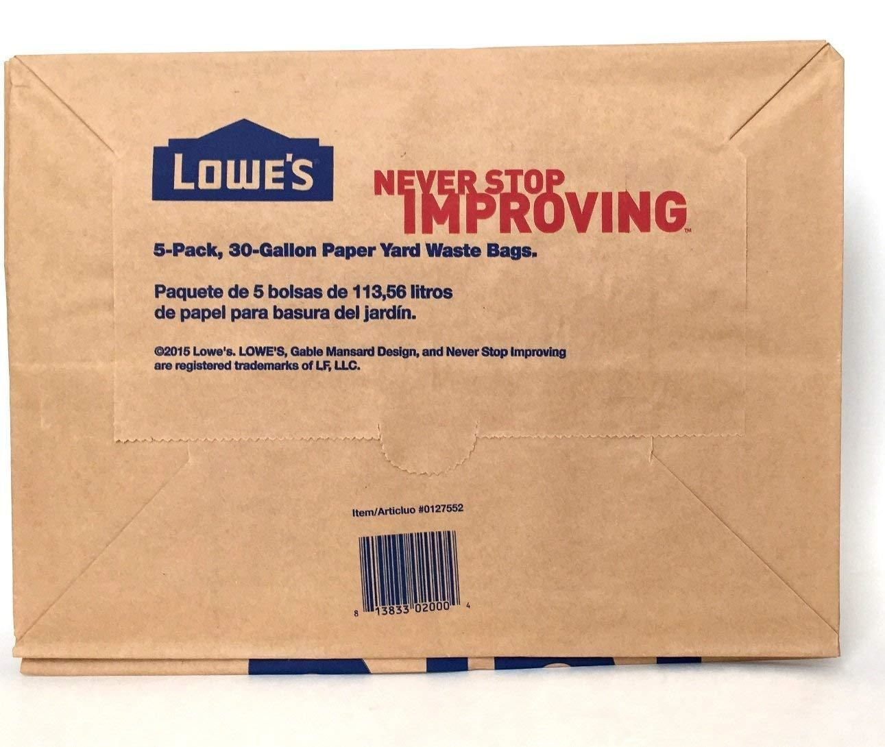 Garden Waste Bags 181024 Lowes 30 Gallon Paper Lawn And