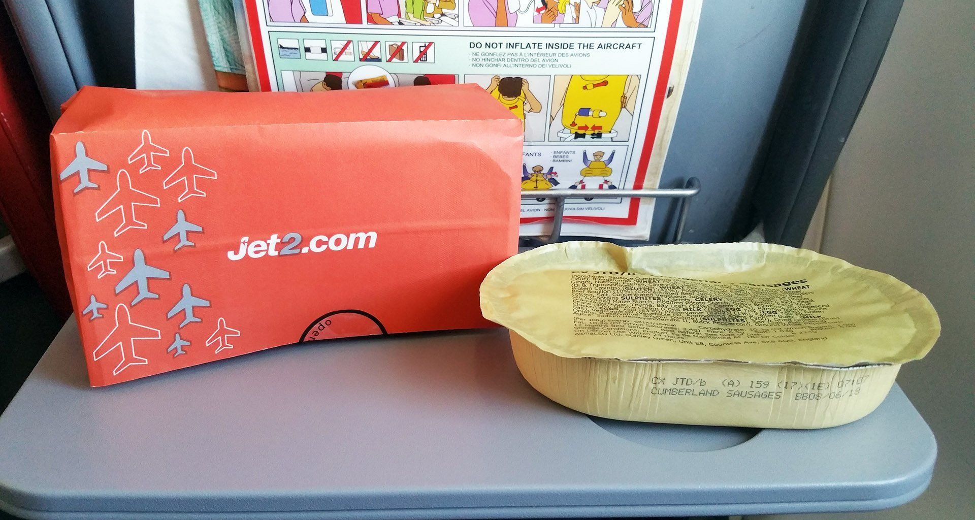 Jet2 Meals Airline Food Sausage And Mash Hot Meals
