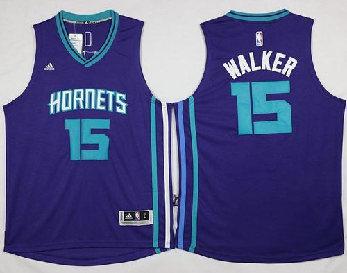 9ea76ad44 Revolution 30 Hornets #15 Kemba Walker Purple Stitched NBA Jersey ...