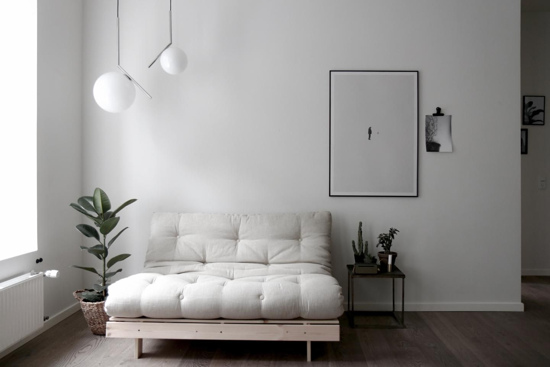 Roots 140 Raw W Mat Natural In 2020 Futon Sofa Furniture Futon