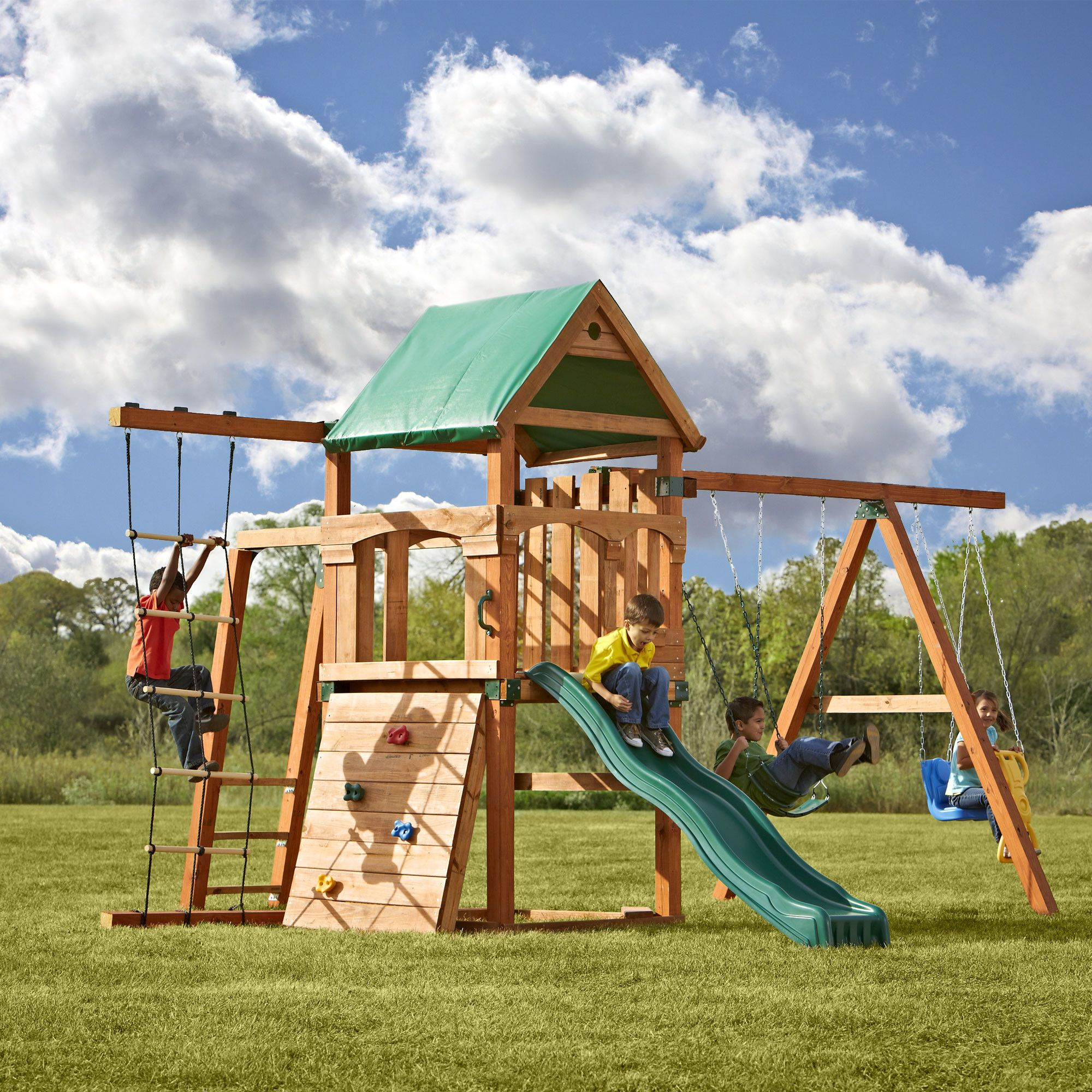 Swing n Slide Play Set Trekker Swing Set Q Pinterest