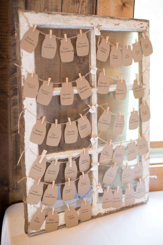 Mason Jar Die Cuts DIY Wedding Favors Kraft Mason Jar Escort Cards