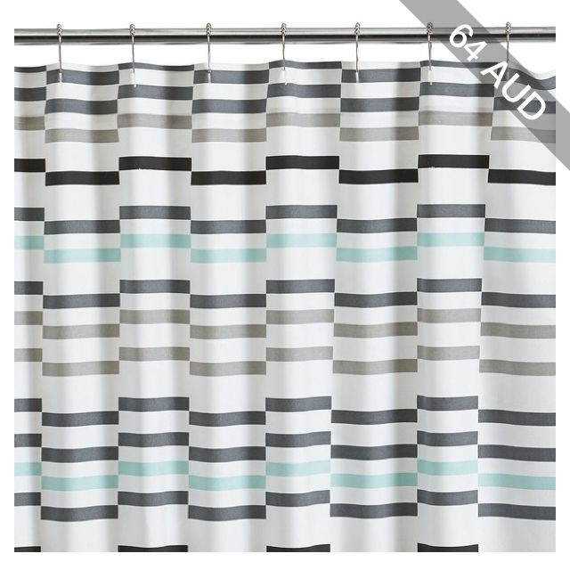 Crate Barrel Newport Seafoam Shower Curtain Shower Curtain