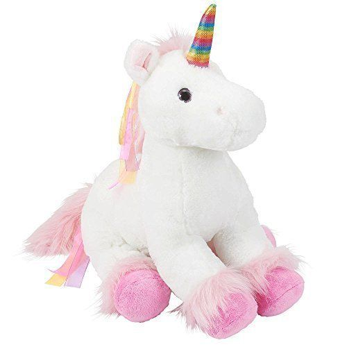62ae5335a2d Toys R Us Plush 18 inch Rainbow Unicorn – White – The Toy Shop ...